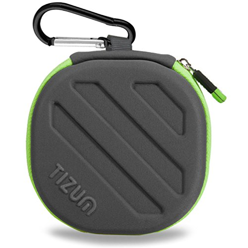 TIZUM Earphone Carrying Case - Multi Purpose Pocket Storage Case for Headphone, Pen Drives, Memory Card, Data Cable (Grey)