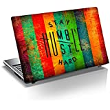 GADGETS WRAP Stay Humble Hustle Hard Laptop Decal for 15.6 inch Laptop 15x10