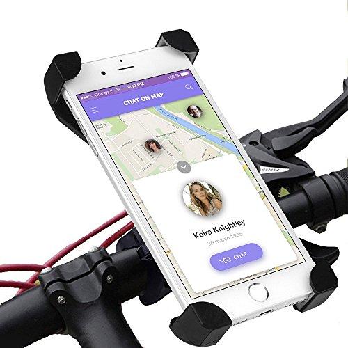 Supporto smartphone bici nuova legatura di estrema durezza più sicuro del mercato supporto smartphone bicicletta supporto smartphone moto supporto cellulare moto supporto bici smartphone nero