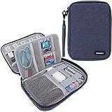 Damero USB Flash Drive Bolsa para tarjetas SD, la energía Banks, tarjetas de memoria / unidad Caso impermeable duro externo, azul marino