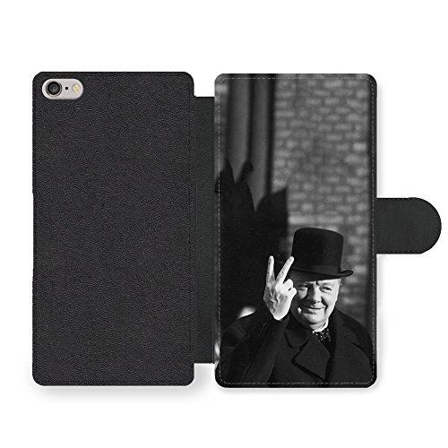 winston-churchill-two-fingers-peace-black-and-white-vintage-britain-england-faux-leather-case-for-ip