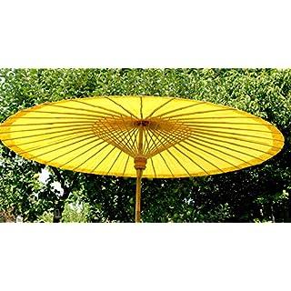 Ars-Bavaria der Extravagante original Sonnenschirm aus Thailand, altweiss, super Robuste Bambus Qualität