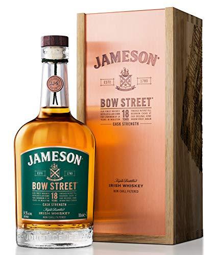 Jameson Bow Street Cask Strength Whiskey, 18 Jahre, Blended Irish Whiskey aus Ex-Bourbon & Sherry Fässern, Milder Whiskey aus Irland, 1 x 0,7 L