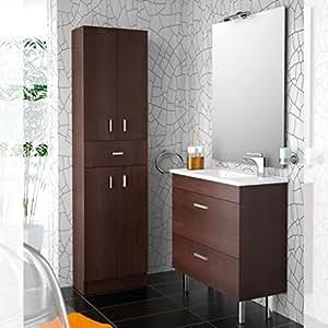 Salgar - Meuble lavabo et vasque - Ensemble complet salle de bain ALMAGRO 800 Wengé