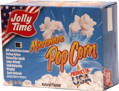 Preisvergleich Produktbild Jolly Time Mikrowellen Popcorn Natural,  3er Pack (3 x 300 g)