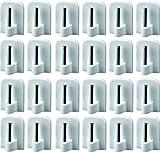 24 Gardinenhaken selbstklebend Klebe-Haken Gardinenstange Vitragestange Haken Gardine Scheibengardine Fenster Weiß 16x24mm