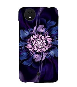 Purple Flower 3D Hard Polycarbonate Designer Back Case Cover for Micromax Canvas Android A1 AQ4501 :: Micromax Canvas Android A1