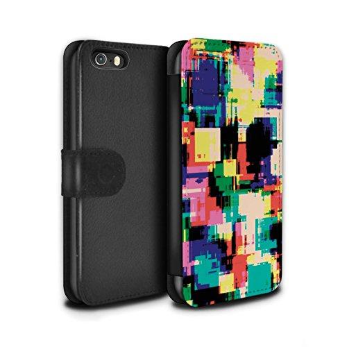 Stuff4 Coque/Etui/Housse Cuir PU Case/Cover pour Apple iPhone 6S / Forêt Hiver Surgelée Design / Moderne Vibrant Collection Rétro 80s Abstrait