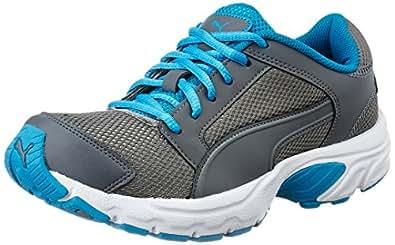 Puma Men's Splendor Dp Steel Grey, Blue Danube White Running Shoes - 7 UK/India (40.5 EU)