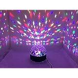 ColorMax - Bola de iluminación de discoteca (con compatibilidad MP3, Bluetooth, altavoz, tarjeta de memoria y función de presentador inalámbrico)
