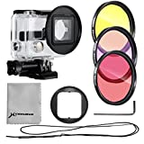 XCSOURCE Filter Kit 3PCS Color Filters (Rose + Purple +Yellow) + 52mm Filter Adapter + Rose Filter Case + Lens Cleaning Cloth For Gopro Hero 3+/Hero 3 Plus LF361
