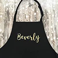 Personalised baking apron, custom child's, adults apron, gift for a cook, food lover, apron set adult and child, chosen print colour including glitter