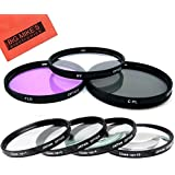52mm Multi-Coated 7 Piece Filter Set Includes 3 PC Filter Kit (UV-CPL-FLD-) And 4 PC Close Up Filter Set (+1+2+4+10) For Panasonic Lumix G Vario 14-42mm F/3.5 -5.6 Asph. / MEGA O.I.S. Lens