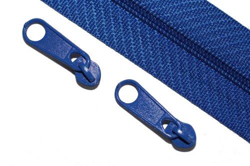 dalipo 32006 - Reißverschluss Meterware 5mm Spirale, inkl. 2 Zipper je Meter, blau -
