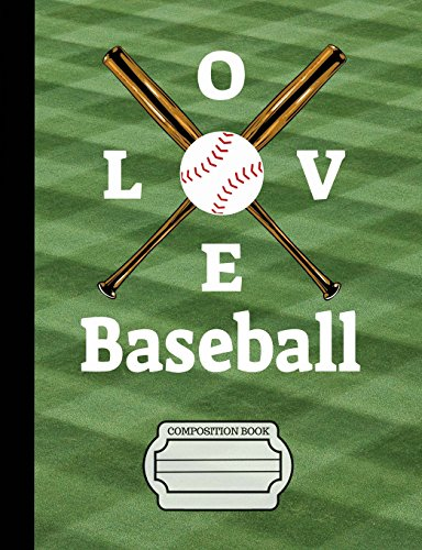 Baseball I Love Baseball Composition Notebook: Journal for School Teachers Students Offices - 5x5 Quad Rule Graph Paper, 200 Pages (7.44