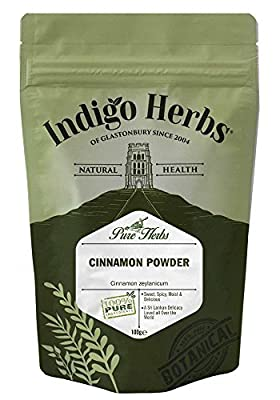 Cinnamon Powder - 100% Pure Finest Quality - 100g by Indigo Herbs