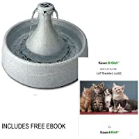 360 Cat Fountain integrated water reservoir includes a top quality pump which is almost silent.