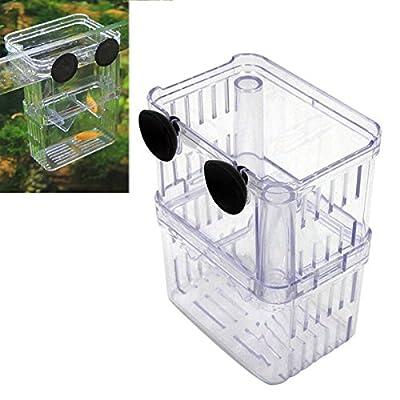 ueetek Inkubator Aquarium Züchter Aquarium Box Aquarienzusatz Aufzucht von Fische Hitze-poissom-environs 7x 10x 13cm