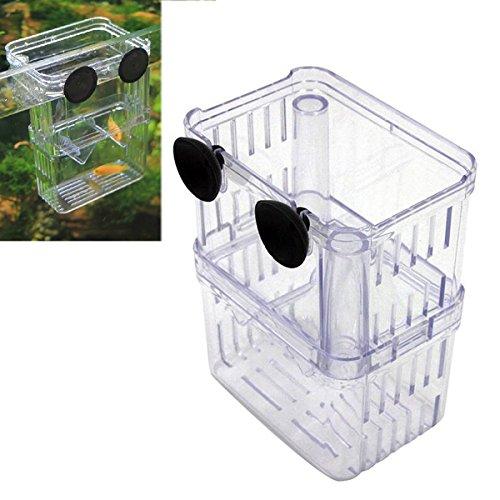 UEETEK Aquarium Fisch Züchter Box Fisch Zucht Isolation Box Züchter Hatchery Inkubator (Züchter-box)