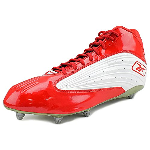 Reebok Outside Speed Mid D Synthetik Klampen White/Red