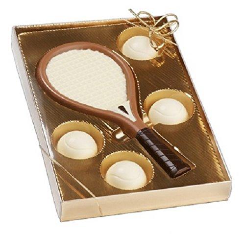 Preisvergleich Produktbild 02 101419 Schokoladen Tennis Set,  Tennis,  Tennisspieler,  Muttertag,  Geburtstag,  Geschenke,  Geschenk,  NEU