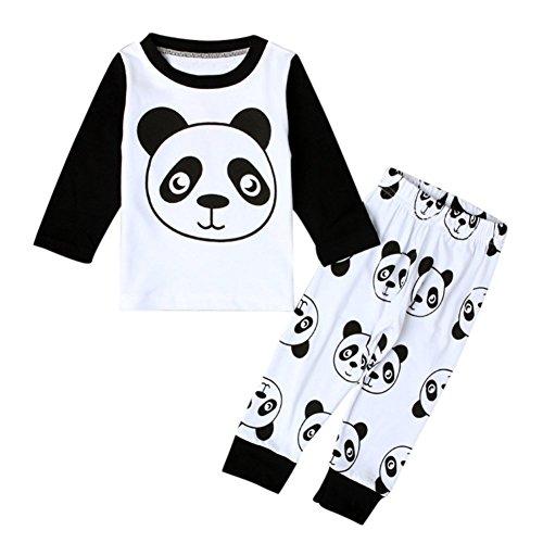 Jungen niedliche Kleidung Set Panda gedruckt Langarm Shirt Tops und Hosen für 3 Monate bis 4 Jahre alt kleine Kinder von (Customes Herren Halloween)