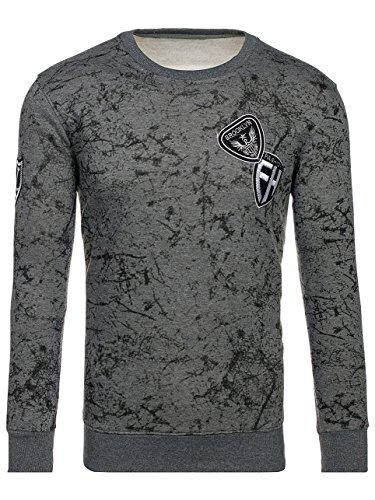 BOLF Herren Sweatshirt Pullover sportlicher Stil J.STYLE DD115 Dunkelgrau M [1A1] |
