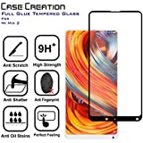 Case Creation Screen Protector Tempered Glass for Xiaomi Mi Mix 2 [Full Screen Coverage] – Black Frame