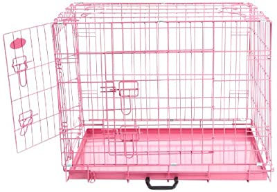 Easipet Dog Cage, 30-inch, Pink