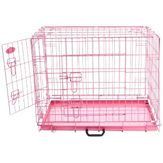 Easipet Dog Cage, 30-inch, Pink 51nfGoOooEL