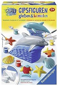 Ravensburger 4005556285211 Kit de Pintura y Modelado para niños - Kits de Pintura y Modelado para niños (Rojo, Amarillo, Animales, 7 año(s), Dolphin, 190 mm, 70 mm)