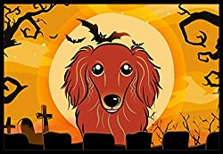 Carolines Treasures Halloween Longhair Red Dachshund Indoor or Outdoor Mat, 24 by 36, Multicolor