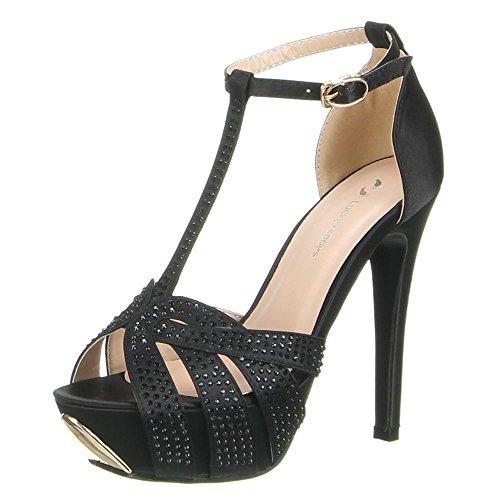 Damen Schuhe, TT-1, PUMPS Schwarz