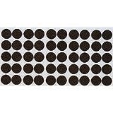 50 x almohadillas de fieltro, Ø 20 mm, redondas, marrón, autoadhesivas, de la máxima calidad (3.5 mm)