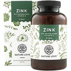 Zink 25mg - 365 Kapseln. Premium: Zink-Bisglycinat (Zink Chelat) - Optimal kombiniert: mit natürlichem Vitamin C aus Acerola. Hochdosiert, laborgeprüft, vegan und hergestellt in Deutschland