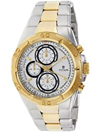 Titan Regalia Chronograph Analog Silver Dial Men's Watch -NK9308BM01
