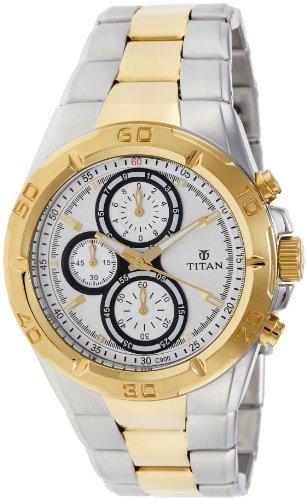 Titan Regalia Chronograph Analog Silver Dial Men's Watch - NE9308BM01J