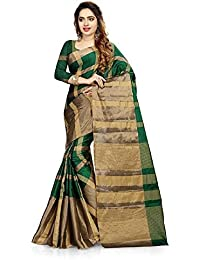 Saree Center Cotton Silk Saree (SC_Aashiqee_Green_Green_Free Size)