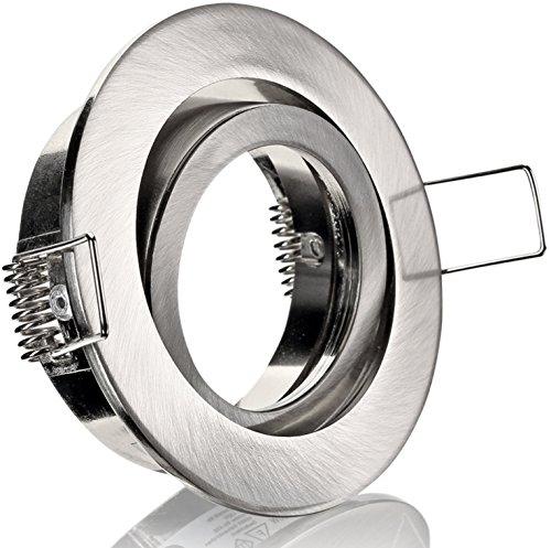 Spot extérieur Cadre à encastrer Orientable MR16 avec fermeture à clic – Fonte d'Aluminium – Ø 82 mm – à Encastrer Ø 68 mm
