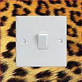 Vinylsticker als Lichtschalter-Umrandung, bedruckt, Leopardenfellmuster