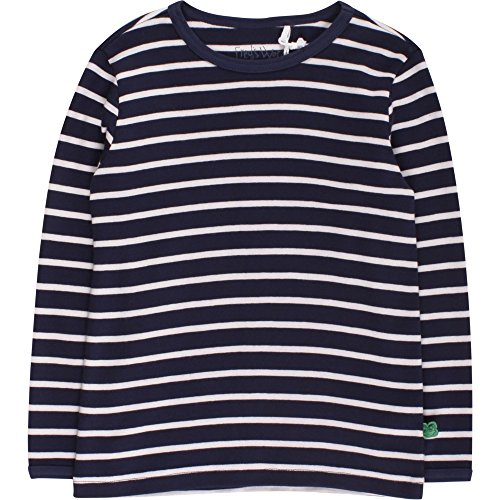 Fred's World by Green Cotton Jungen T-Shirt Stripe T, Blau (Navy/Cream 019800002), 104 (Stripe Cotton Herren)