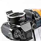 Viltrox EF-FX1 Autofokus-Objektivadapter mit Blendensteuerung, EXIF-Übertragung für Canon EF/EF-S Objektiv an Fuji X-Mount Sp