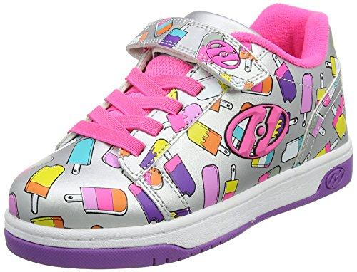 Heelys Mädchen Dual up Sneaker, Grey (Silver/Lilac/Ice Cream), 30 EU