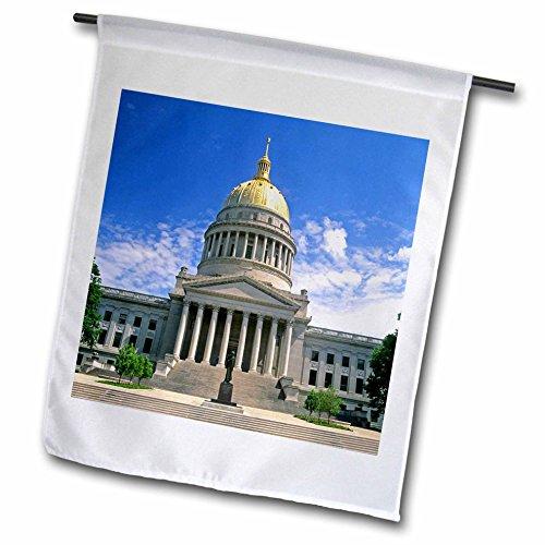 Charleston Foto (3drose FL _ 97072_ 1West Virginia Charleston, State Capitol building-us49dfr0005-david R. Frazier Garten Flagge, 12von 18)