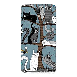 Cute Cat On Trees Print Back Case Cover for Galaxy Note 3 Neo