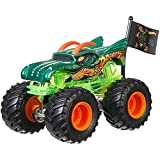 Unbekannt Hot Wheels Monster Jam Monster-Truck mit Team Flagge (Dragon)