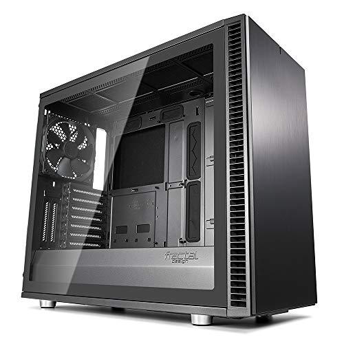 Fractal Design Define S2 Gunmetal, Tempered Glass, PC Gehäuse (Midi Tower mit Seitenteil aus gehärtetem Glas) Case Modding für (High End) Gaming PC, grau