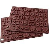 Dr. Oetker Silikon-Schokoladenform Buchstaben und Zahlen Silikon, Silikonformen 2er-Set, Deko Geburtstagskuchen,Gießformen für Schokolade, Menge: 2 Stück