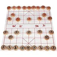 Larcele Holz Chinesisches Schach Traditionelle Brettspiel Xiangqi zum Kinder MZXQ-01