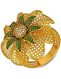 P.N.Gadgil Jewellers Lavanya Collection 22k (916) Yellow Gold Ring